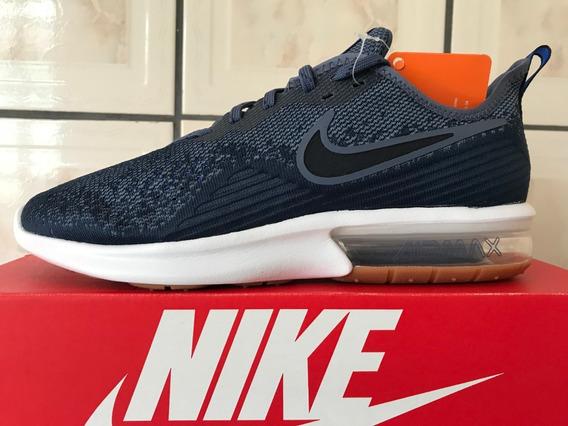 Tênis Nike Air Max Sequent 4 Masculino Azul E Branco Origina