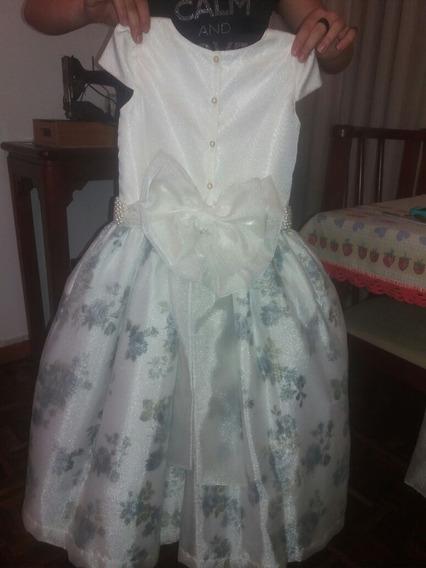 Vestido Daminha/florista Veste De 4 A 8 Anos,fácil Ajuste