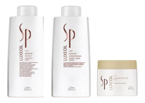 Wella Sp Luxe Oil - Kit Shampoo+condicionador L+mascara500ml