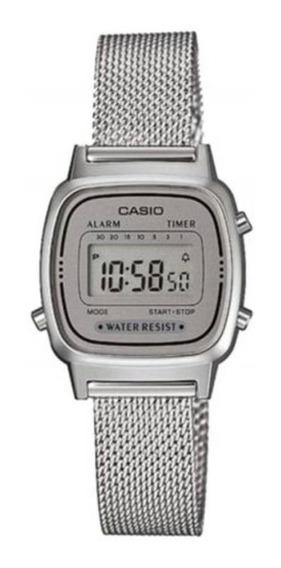 Relogio Casio La670wem Mini Aço Retrô Vintage Alarme La-670