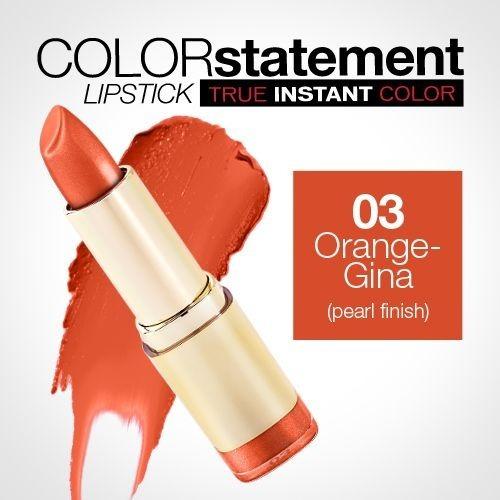 Milani Statement Lipstick Labial Cremoso Orange Gina