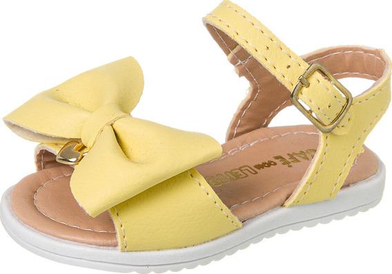Sandália Com Laço Grande Infantil Menina 008.076 ( 1 Par)