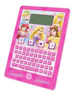 Tableta Educativa Bilingüe 80 Actividades Princesas