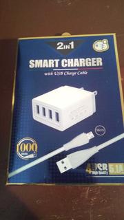 Cargador iPhone 5/6 5.1 Amp 4 Usb