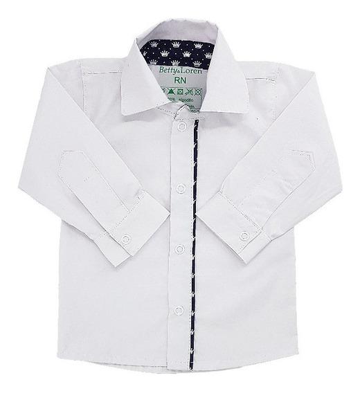 Camisa Social Botão Bebê 100% Percal 200 Menino Principe