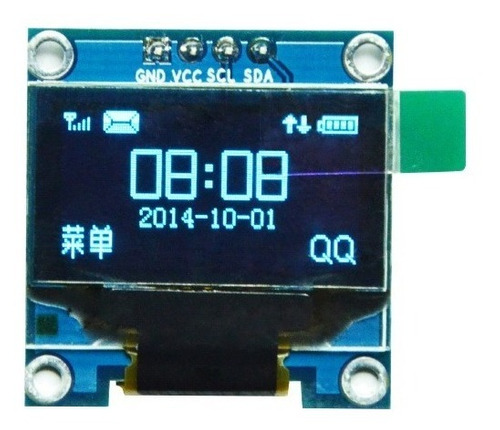 Oled Display Ldc 0,96 128×64 I2c Bajo Consumo Azul Arduino