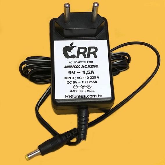 Fonte Carregador 9v P/caixa Amplificada Amvox Aca292 Aca-292