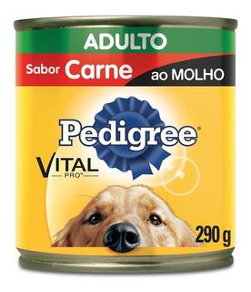 Ração Pedigree Carne Ao Molho Lata Para Cães Adultos - 290 G