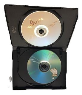 Caja Dvd 14 Mm X 4 Discos Cajas Para Guardar Series X Unidad