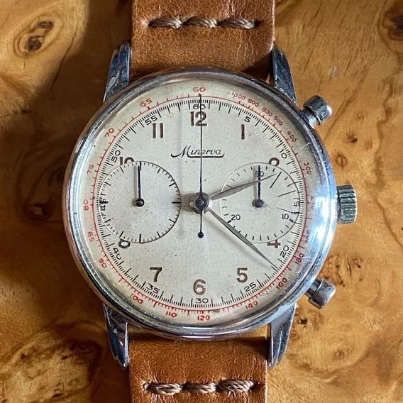 Relógio Antigo Vintage Cronógrafo Minerva