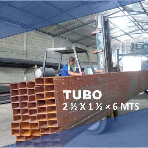 Tubo Estructural 2 1/2×1 1/2×1.1×6mts