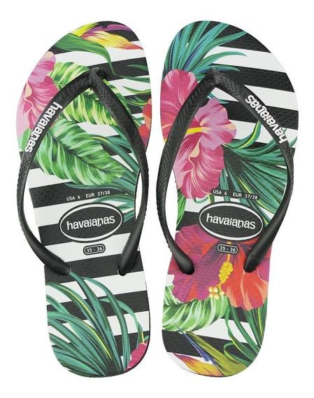 Chinelo Havaianas Slim Tropical Floral Feminino Original