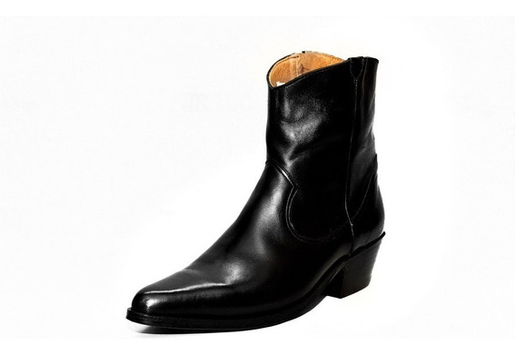 Botas Texanas - Jr Boots & Shoes - Art. 6046 Negra Lisa