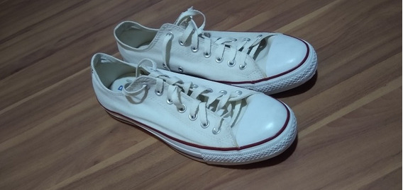 Converse All Star Branco Masculino Tam 43