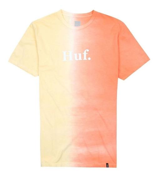 Playera Huf Split Dye Tee Coral Haze Original Tie Dye Stussy