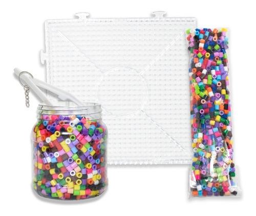 Kit Midi 2900 Pz Perler Hama Beads + Base, Pinza, Llaveros