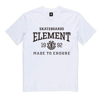 Remera M/c Element Victory Tee Blanco Hombre 21107011