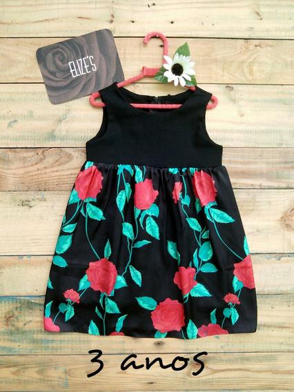 Vestido Infantil Roupa Infantil De Menina Floral