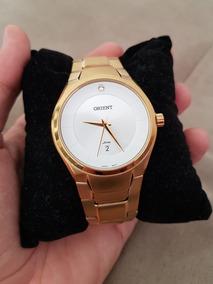 Relógio Orient Feminino Dourado Original Semi Novo Lindo
