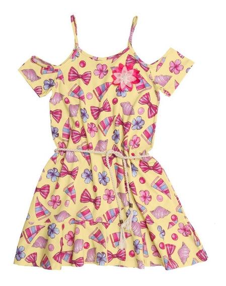 Vestido Infantil Minore Amarelo