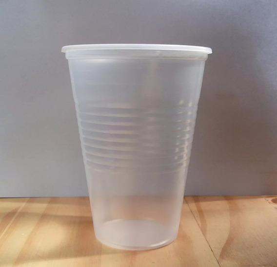 Vasos Plastcos Traslucidos De 330cc * 100 Unid.