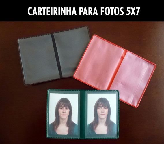 Carteirinha Para Fotos 5x7 Pvc (100 Unidades)