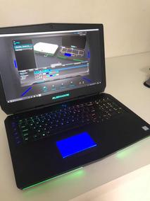 Alienware 17 R3 Tela 4k + 16gb + 8gb Vídeo + Ssd 240/hd 1tb