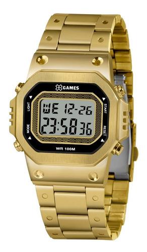 Relógio X-games Masculino Digital Xggsd001 Bxkx Dourado Aço
