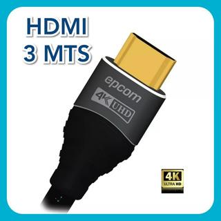 Cable Hdmi 3 Metros Redondo 4k Ultra Hd Version 2.0 Audio