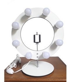 Ring Light 8 Bocais P/ Selfie Make - Sem Lâmpadas Sem Tripé