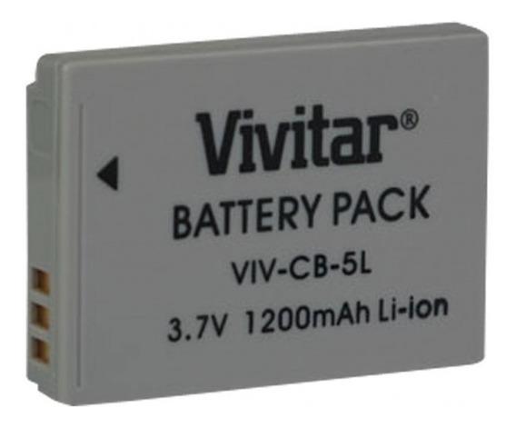 Bateria Recarregável Equiv A Canon Mod Nb5l Vivitar Vivcb5l