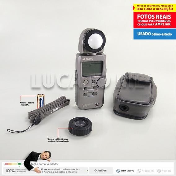 Fotômetro Sekonic L358 Flash Master + Lumigrid   12x S/juros