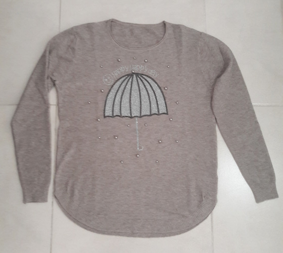 Sweater Mujer Paraguas Marrón Talle Único