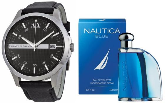 Reloj Para Caballero Armani Exchange Ax2101 + Perfume