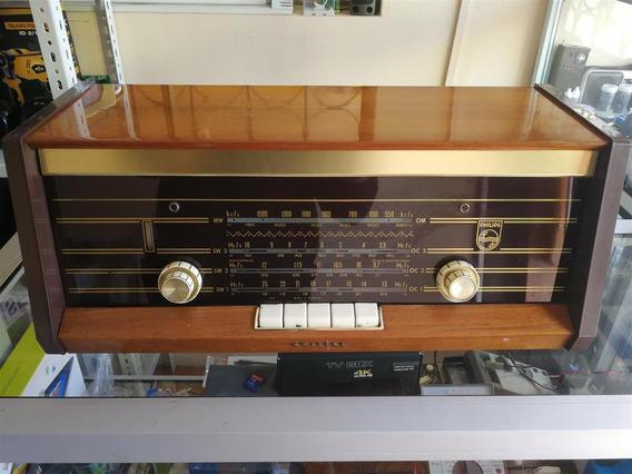 Radio De Madera Antiguo Philips B4x47a Válvulas 1964 Holland
