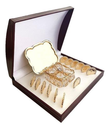 Imagen 1 de 5 de Arras Matrimoniale Con Zirconia Y Baño De Oro De 24k