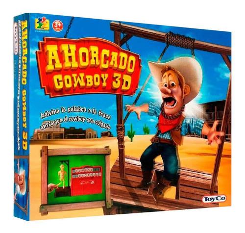 Juego De Mesa Ahorcado Cowboy 3d Adiviná La Palabra