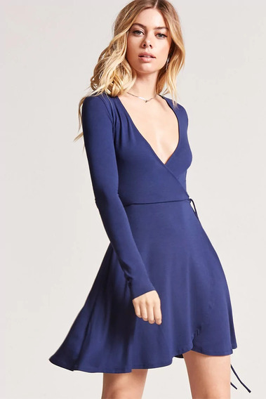 Vestido Azul Forever 21 Original Importado Talle Medium