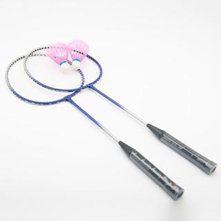 Kit Badminton 2 Raquetes De Nylon E 2 Petecas