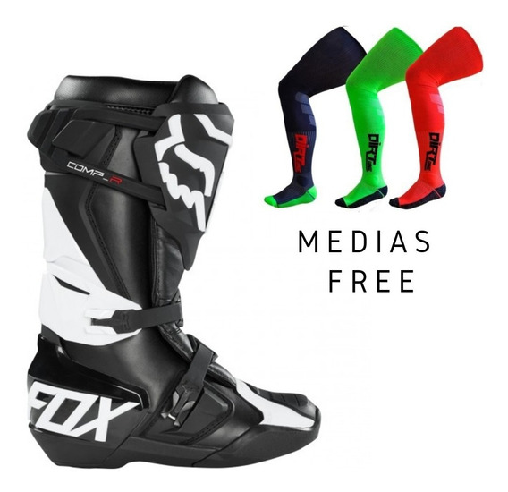 Botas Fox Comp R Adulto Motocross Atv Negra Tech Instinct