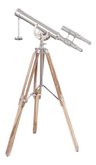 Telescopio Con Trípode De Madera
