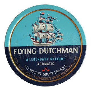 Antigua Lata De Tabaco Flying Dutchman