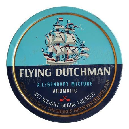 Antigua Lata De Tabaco Flying Dutchman