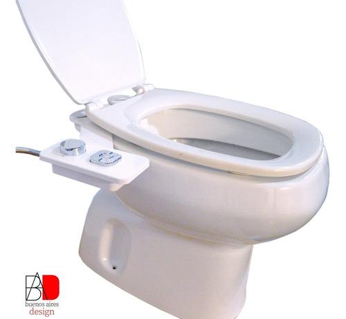 Bidet Para Inodoro Fácil Instalación Agua Fria 2 Boquillas