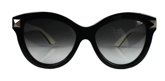 Óculos Valentino Acetato Preto Rockstud Valentino