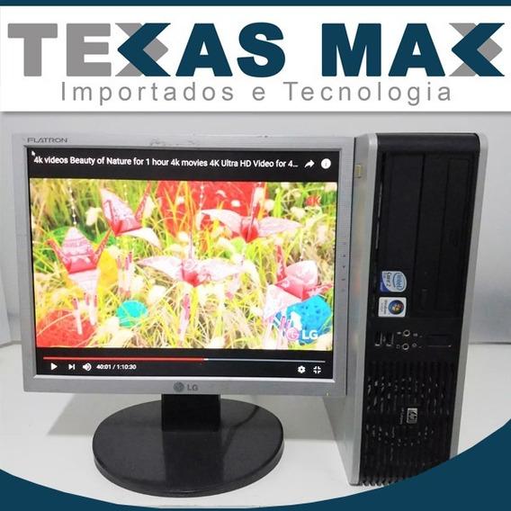 Computador Hp Core 2 Duo + Monitor 15+ Mouse + Teclado