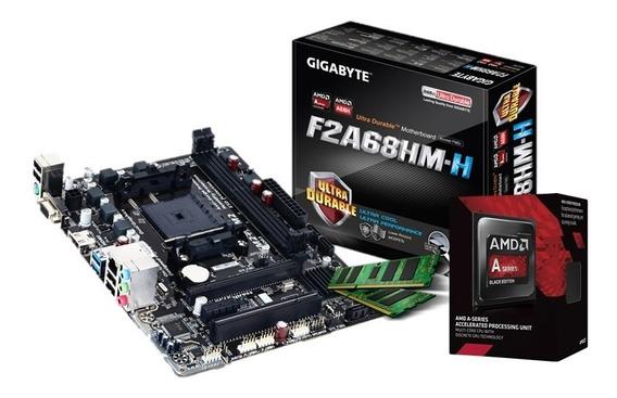 Combo Actualización Pc Amd A6 7480 Mother A68 Fm2 4gb C1 !!