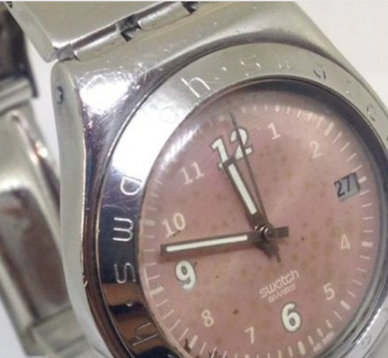 Relógio De Pulso Swatch Feminino Quartz T03149 Webclock