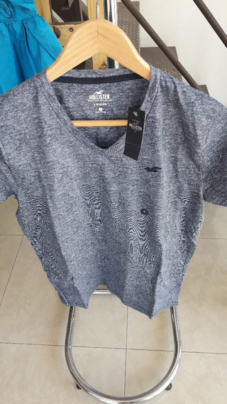 Playera Marca Hollister V-neck Tee