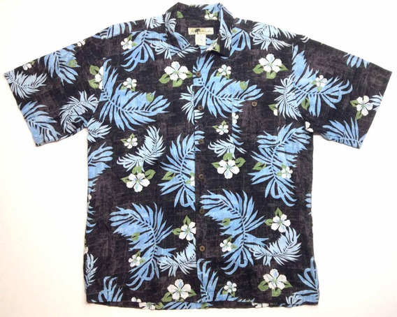 Camisa Hawaiana Tropical Floreada Surf Talle Xl 1450